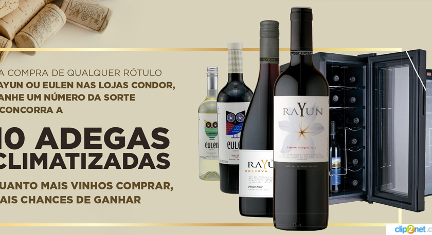 Promoção Rayun e Eulen: marcas de vinho que podem te garantir uma adega