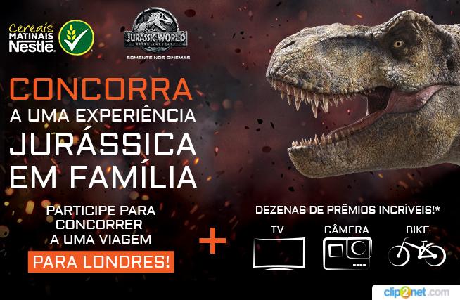 Promoção Jurassic World: a Nestlé proporciona a você e sua família vários prêmios